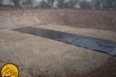 بسترسازی استخر ژئوممبران برای ذخیره آب