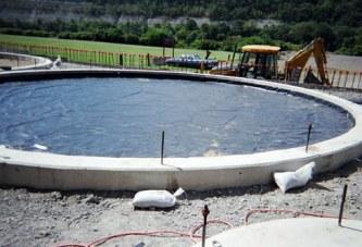 بسترسازی استخر غیر خاکی برای نصب ژئوممبران